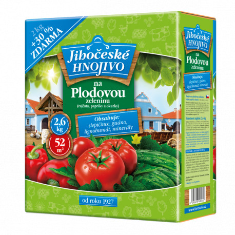 Forestina Jihočeské hnojivo na plodovou zeleninu 2,6kg