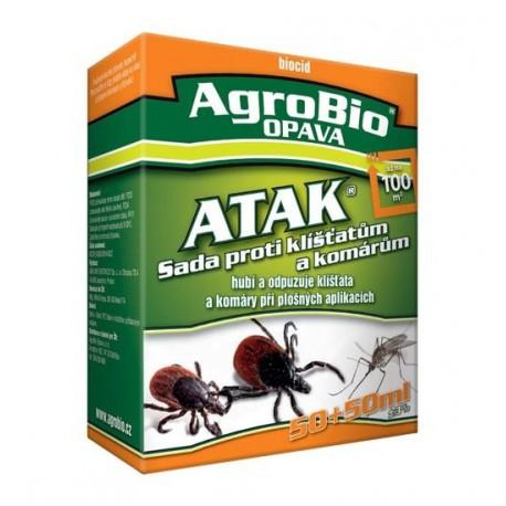 AgroBio Atak sada proti klíšťatům 100+100ml
